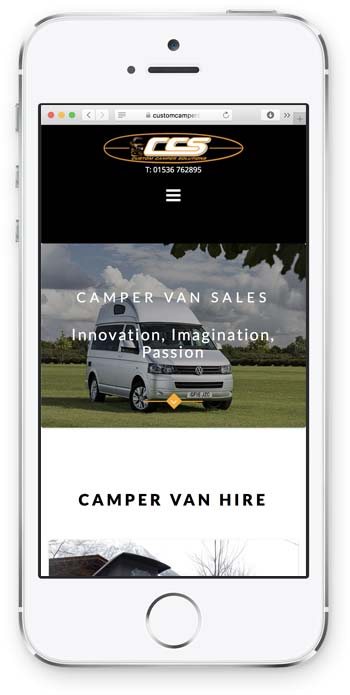 Custom Camper Solutions Mobile Example