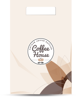 coffee house branding bag