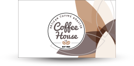coffee house business card