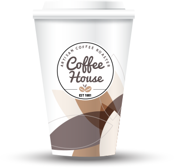 coffee house branding cup