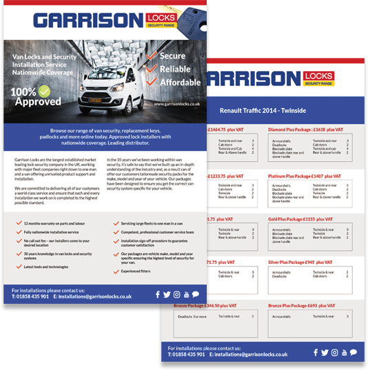 Design for Print - Garrison Brochures