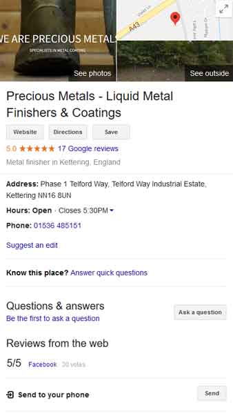 Precious Metals business listing