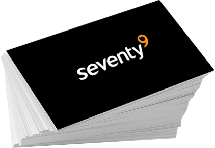 Seventy9 business cards