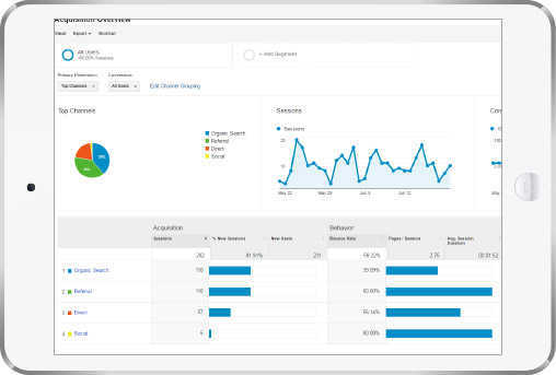 Google Traffic Web Analytics